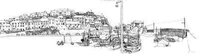 The Harbour at Mevagissey, Cornwall (print)