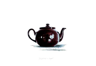 Self-Portrait in a Teapot (screenprint with John Vince)