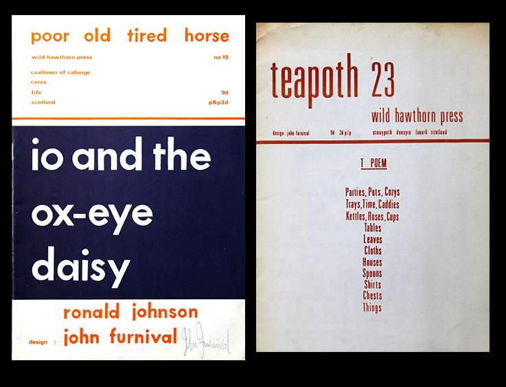 Poor.Old.Tired.Horse pamphlets designed by John Furnival