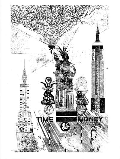 Time is Money (Statue of Liberty print)